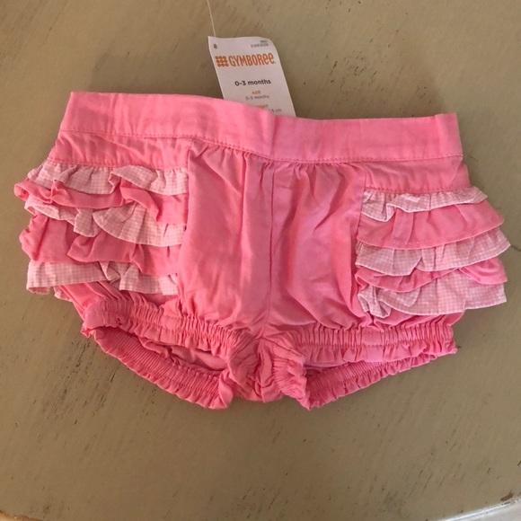 0d5f5f37c24 Gymboree 0-3 girls pink ruffle bottom shorts